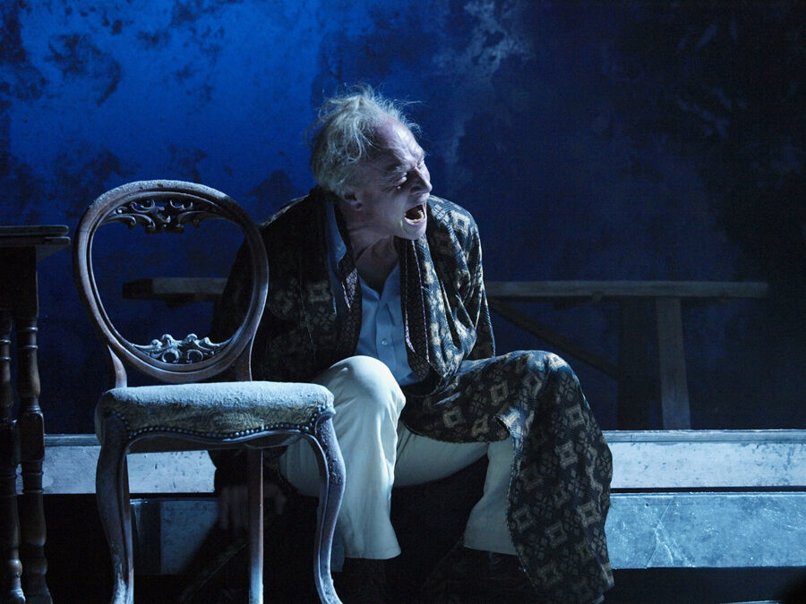Stephen Page (as Gregor Mittenhofer) in Elegy for Young Lovers by Hans Werner Henze. ENO Young Vic production