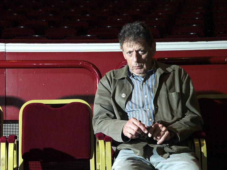 Philip Glass, American composer. BBC Proms, Royal Albert Hall. 2009
