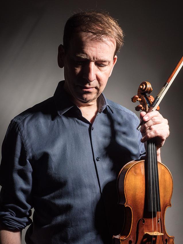 Stephen Bryant, leader of the BBC Symphony Orchestra. Studio portrait.