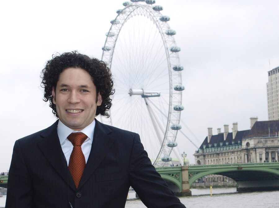 Gustavo Dudamel, conductor, on the terrace of The House of Commons