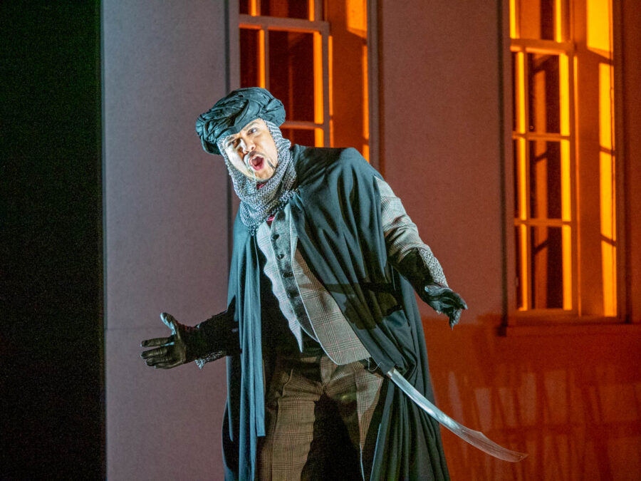 AUBREY ALLICOCK as Argante in RINALDO. Glyndebourne Opera.