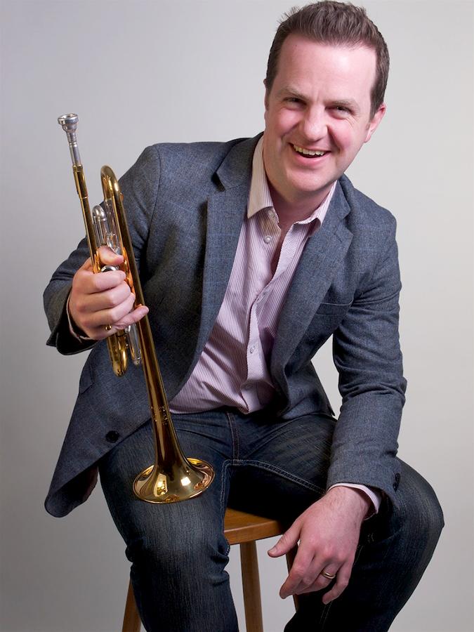 Simon Desbruslais, classical trumpet player.