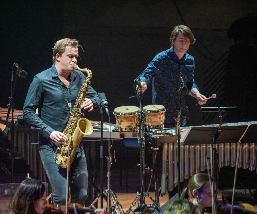Marius Neset, saxophone and Jim Hart vibes play with The London Sinfonietta
